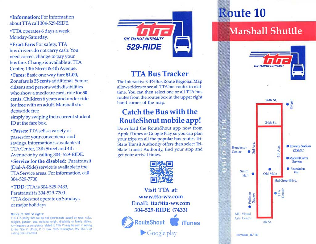 Route 10 - Marshall Shuttle