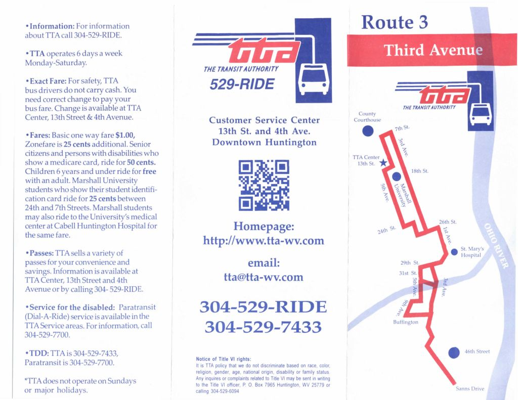 TTA Route 3 - Third Avenue