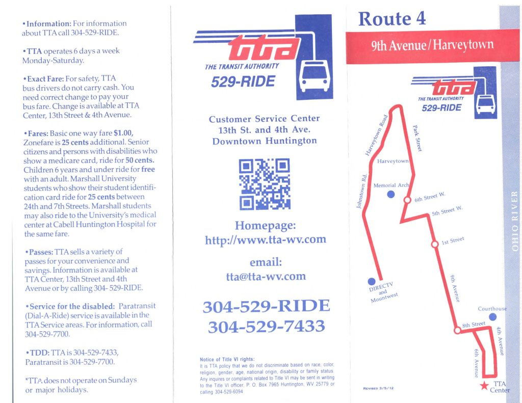 TTA Route 4 - 9th and 11th Avenue