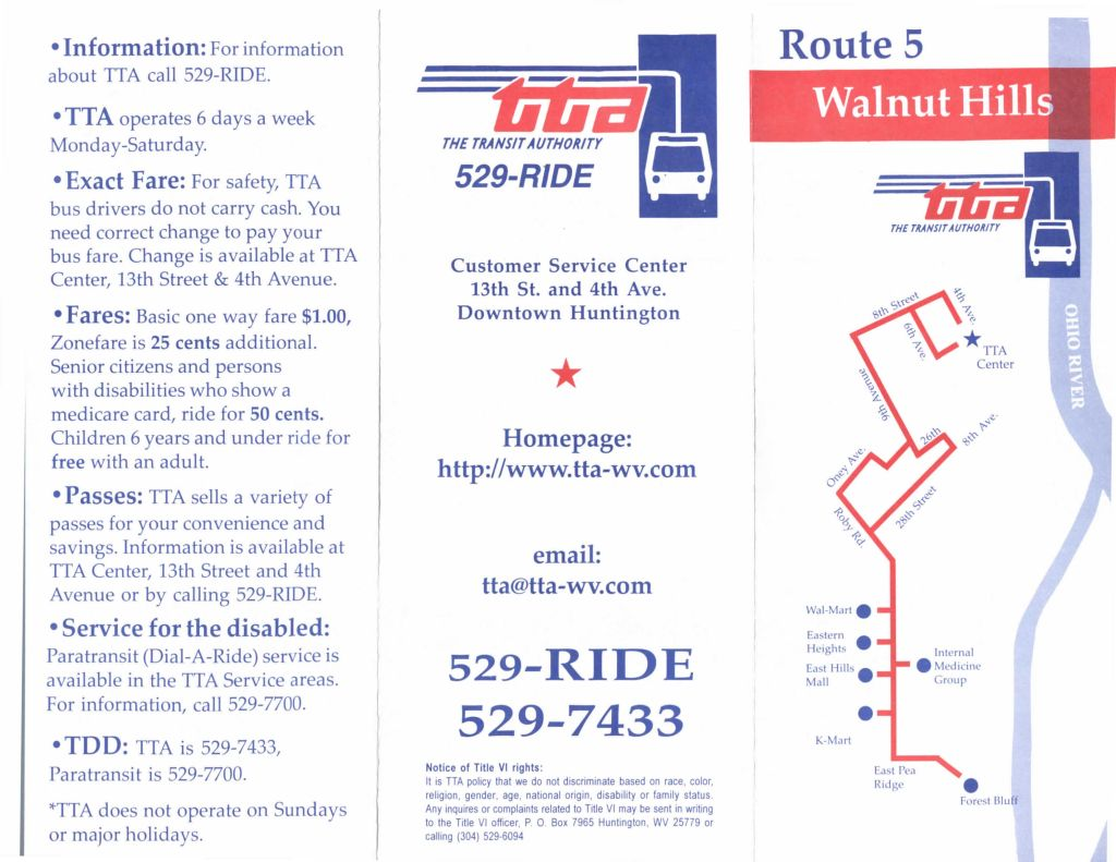 Route 5 - Walnut Hills/Walmart/Internal Medicine Group