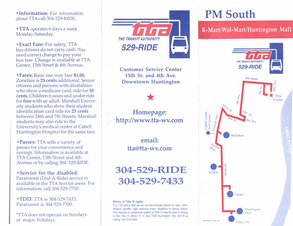 Route 20 - PM South/Late Service