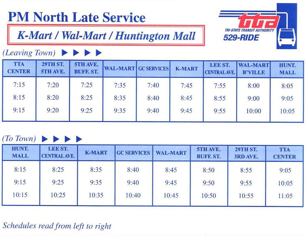 Routes & Schedules   Tri-State Transit Authority